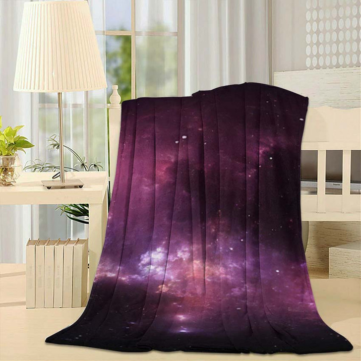 360 Degree Interstellar Cloud Dust Gas - Galaxy Sky and Space Fleece Throw Blanket