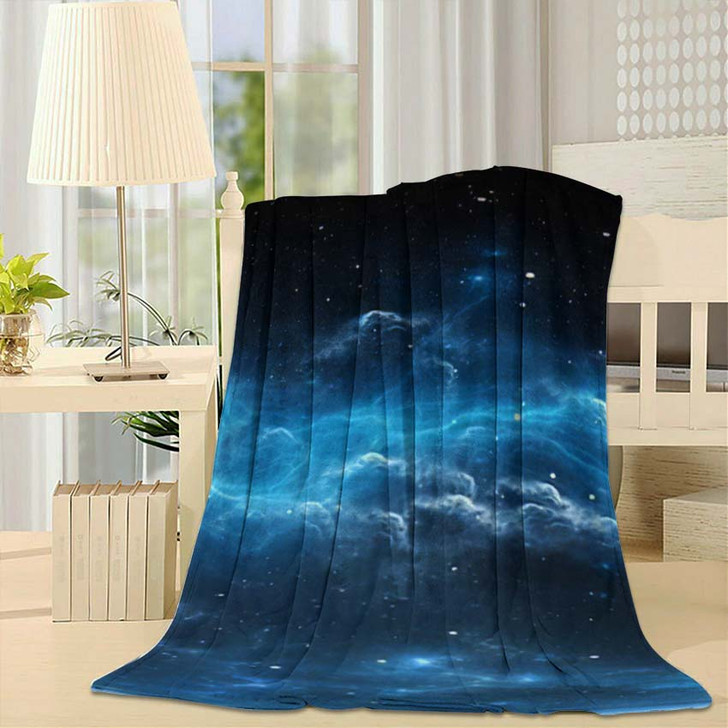 360 Degree Space Background Nebula Stars - Galaxy Sky and Space Fleece Throw Blanket