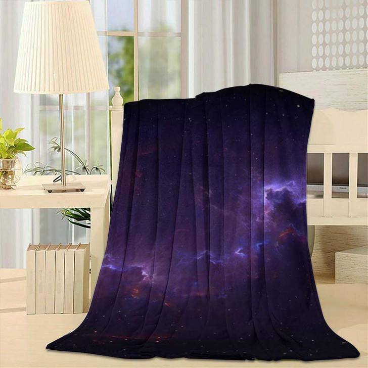 360 Degree Space Background Nebula Stars 2 - Galaxy Sky and Space Fleece Throw Blanket