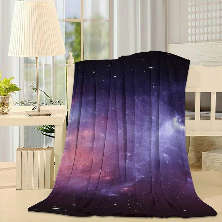 360 Degree Space Nebula Panorama Equirectangular 3 - Galaxy Sky and Space Fleece Throw Blanket