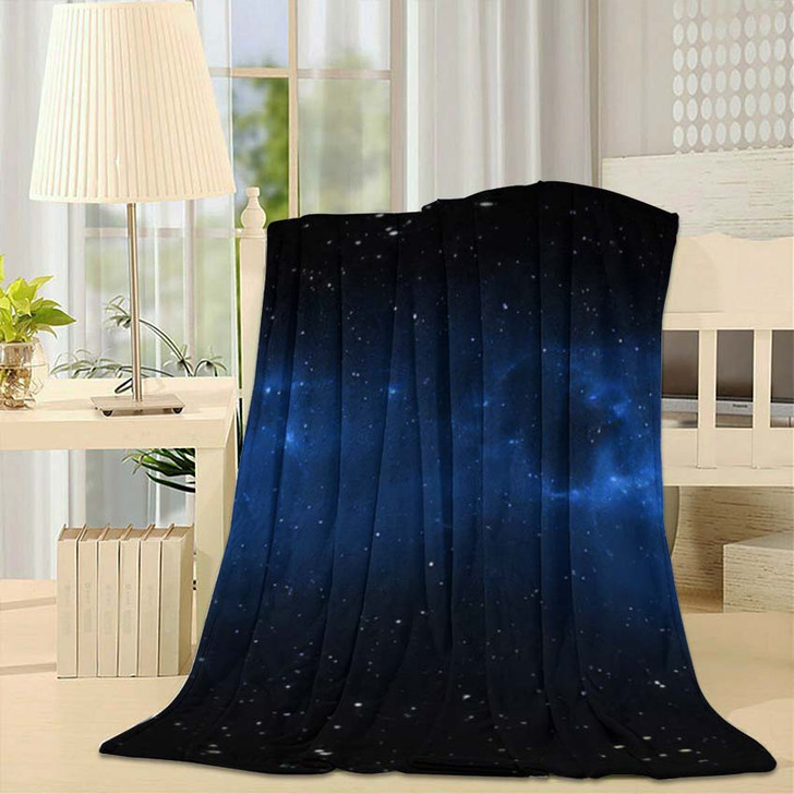 360 Degree Space Nebula Panorama Equirectangular 4 - Galaxy Sky and Space Fleece Throw Blanket