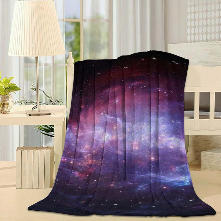 360 Degree Space Nebula Panorama Equirectangular 5 - Galaxy Sky and Space Fleece Throw Blanket