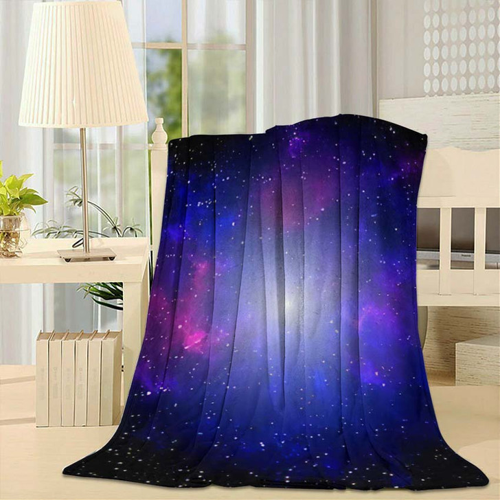 3D Illustration Galaxy Science Fiction Wallpaper - Galaxy Sky and Space Fleece Throw Blanket