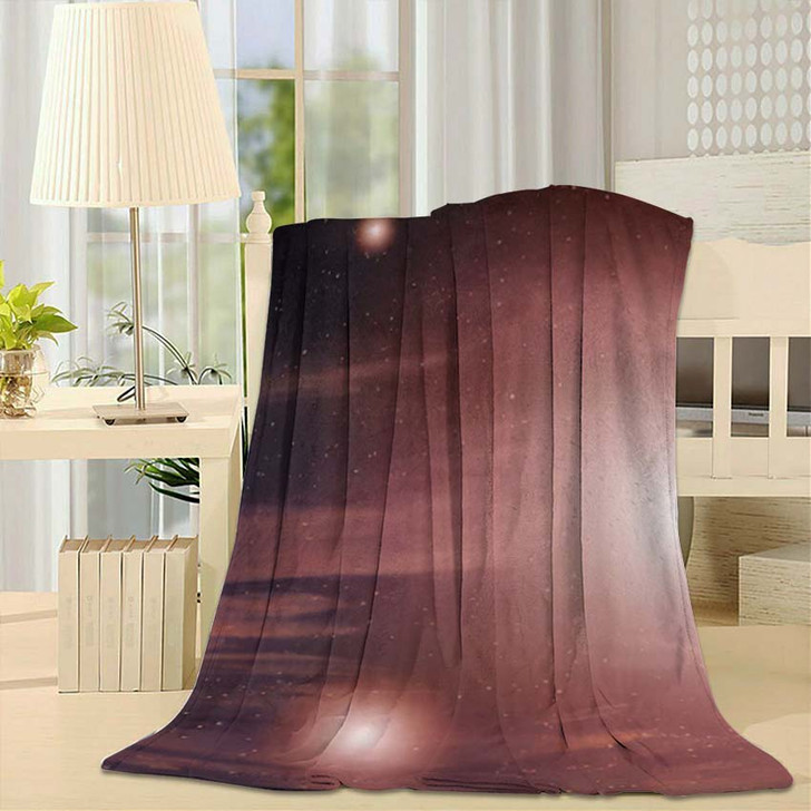 3D Illustration Planets Galaxy Science Fiction - Galaxy Sky and Space Fleece Throw Blanket