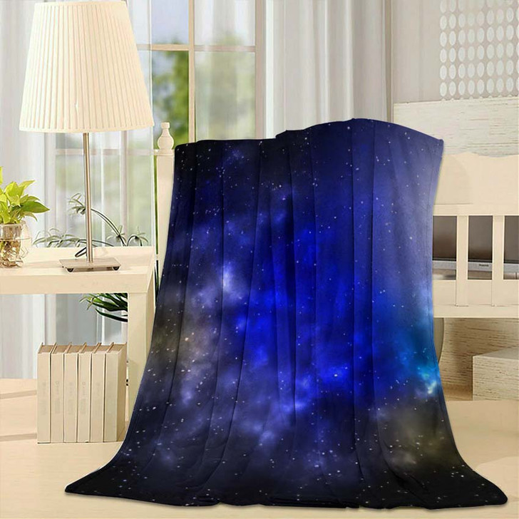 3D Illustration Planets Galaxy Science Fiction 1 - Galaxy Sky and Space Fleece Throw Blanket