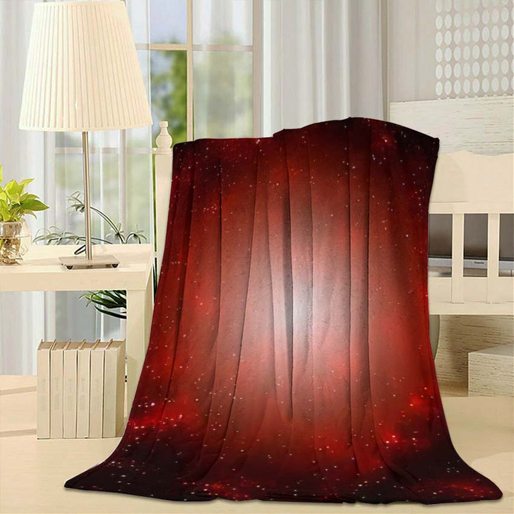 3D Illustration Planets Galaxy Science Fiction 2 - Galaxy Sky and Space Fleece Throw Blanket