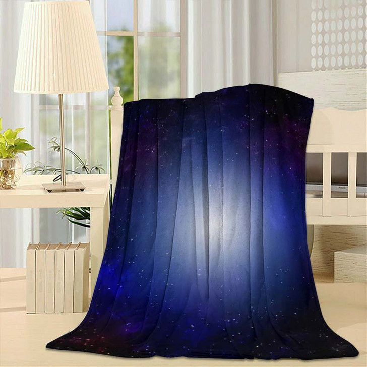 3D Illustration Planets Galaxy Science Fiction 3 - Galaxy Sky and Space Fleece Throw Blanket