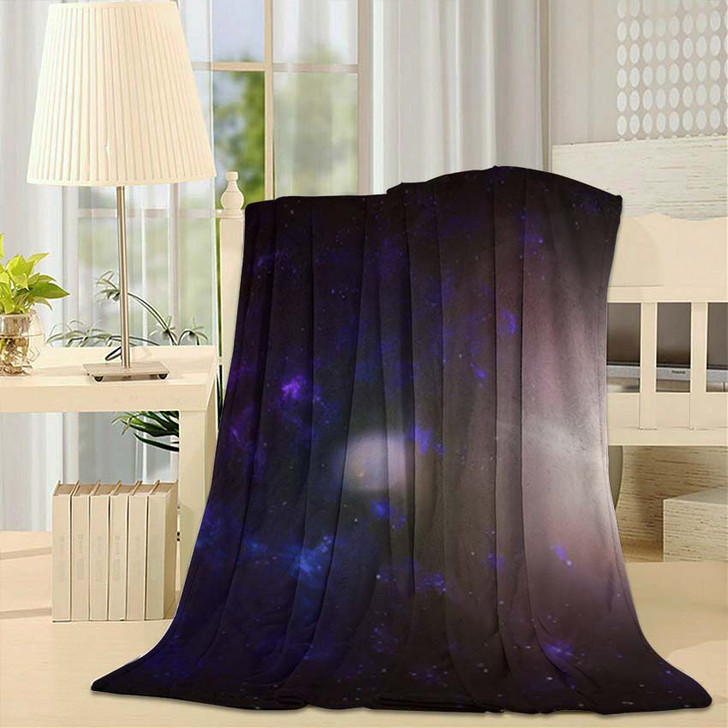 3D Illustration Planets Galaxy Science Fiction 4 - Galaxy Sky and Space Fleece Throw Blanket
