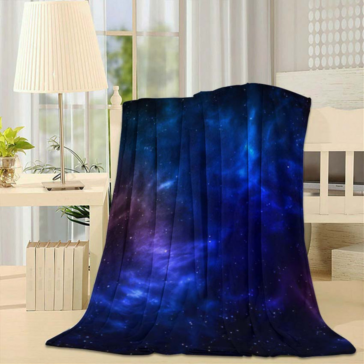 3D Illustration Planets Galaxy Science Fiction 7 - Galaxy Sky and Space Fleece Throw Blanket