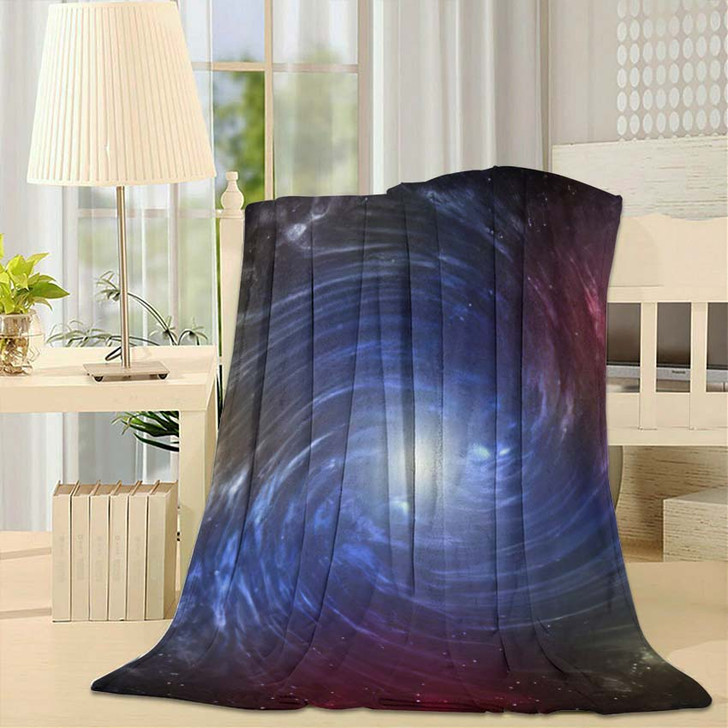3D Illustration Planets Galaxy Science Fiction 8 - Galaxy Sky and Space Fleece Throw Blanket