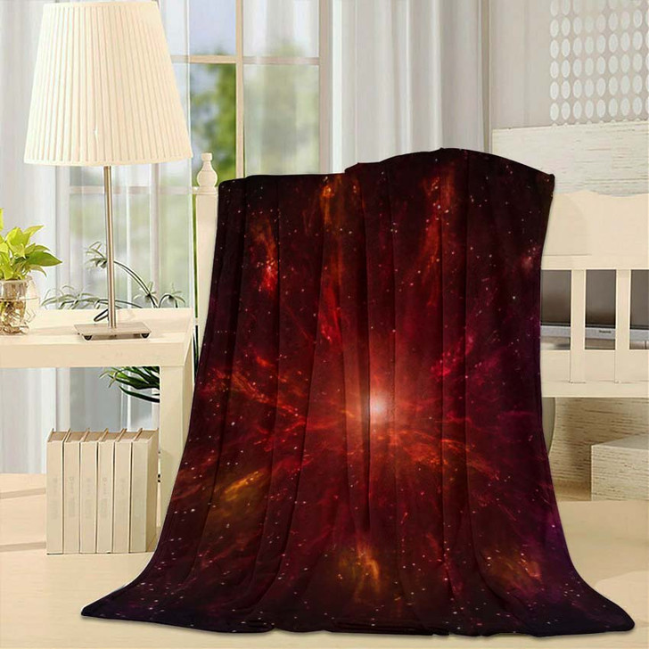 3D Illustration Planets Galaxy Science Fiction 9 - Galaxy Sky and Space Fleece Throw Blanket