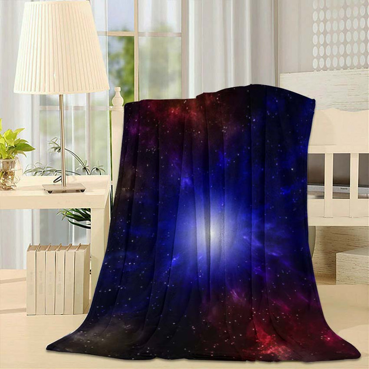 3D Illustration Planets Galaxy Science Fiction 11 - Galaxy Sky and Space Fleece Throw Blanket