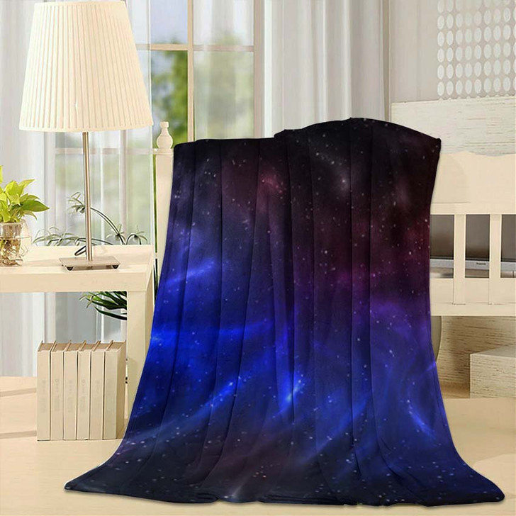 3D Illustration Planets Galaxy Science Fiction 12 - Galaxy Sky and Space Fleece Throw Blanket