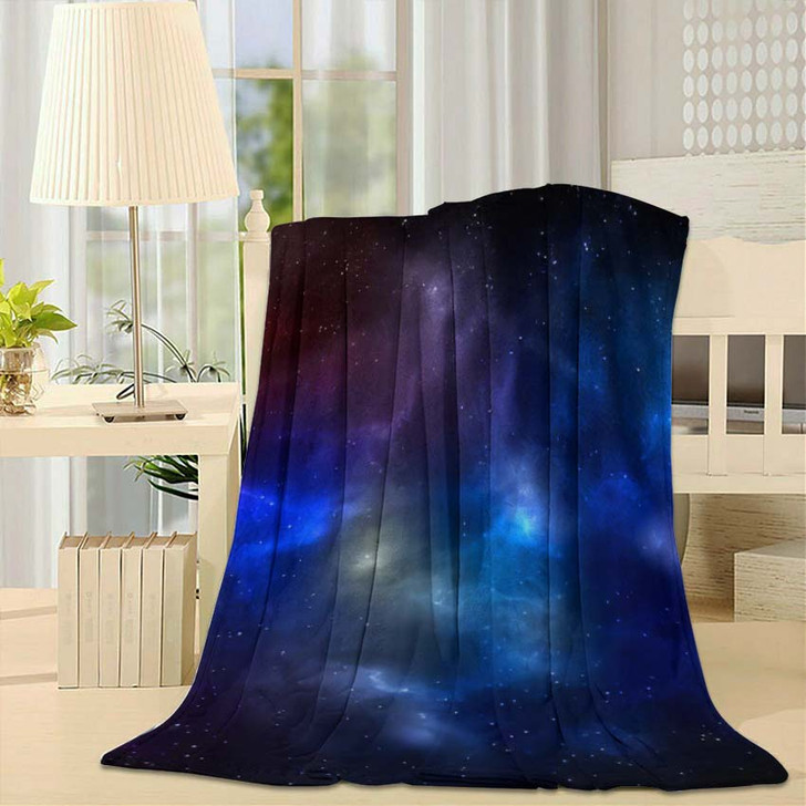 3D Illustration Planets Galaxy Science Fiction 13 - Galaxy Sky and Space Fleece Throw Blanket