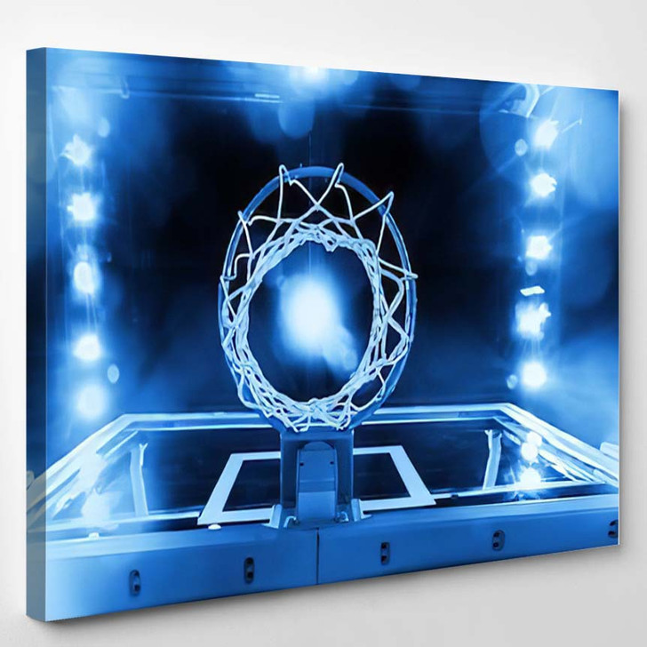 Basketball Hoop - Sports And Recreation Canvas Wall Decor