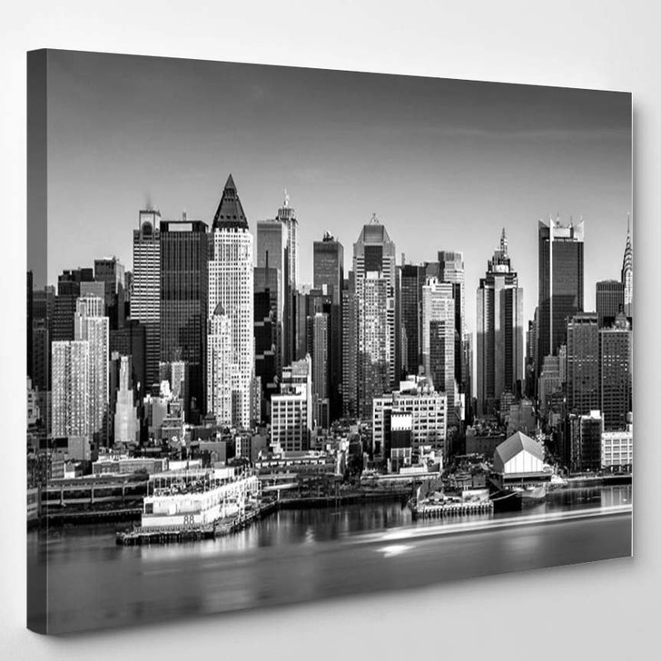 New York Black And White Large Art - Landscape Canvas Wall Decor