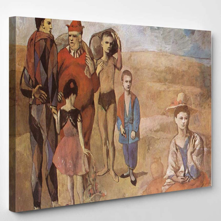 Pablo Picasso Family Of Saltimbanques - Abstract Canvas Wall Decor