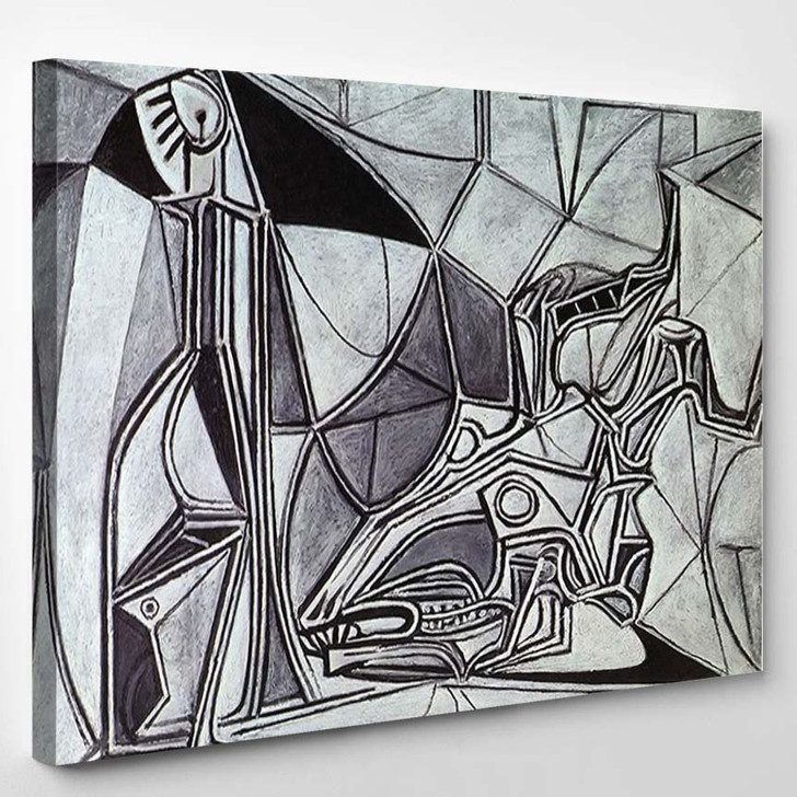 Pablo Picasso Goats Skull Bottle And Candle - Abstract Canvas Wall Decor