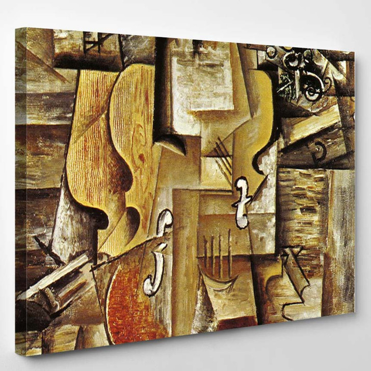 Pablo Picasso Violin And Grapes 2 - Abstract Canvas Wall Decor