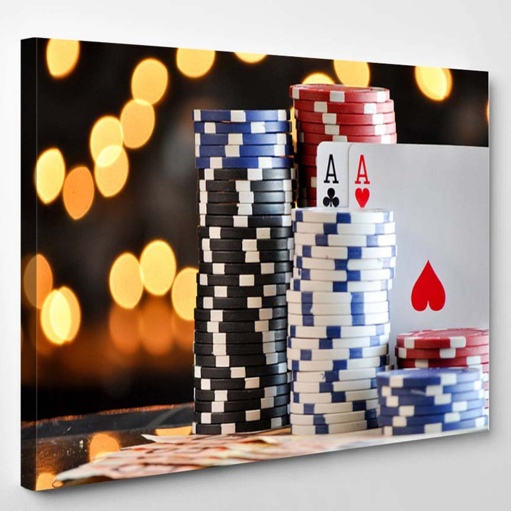 Poker Chips - Gaming Canvas Wall Decor