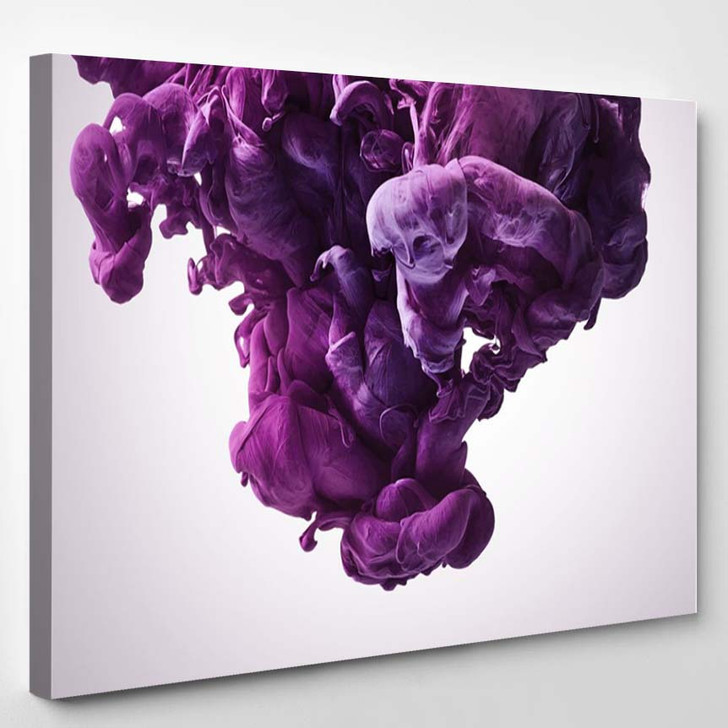Purple Paint Splash. Abstract Background 2 - Abstract Canvas Wall Decor