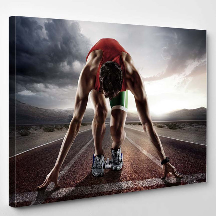 Runner - Sports And Recreation Canvas Wall Decor