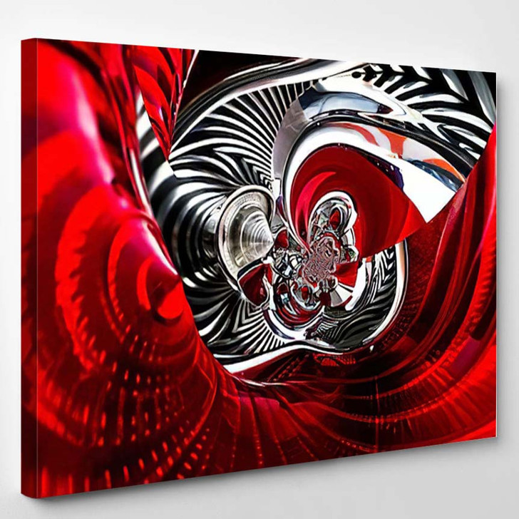 Sport Car Back Lights Spiral Abstract - Industrial Canvas Wall Decor