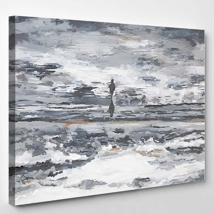 Wanderer Away Abstract - Abstract Canvas Wall Decor