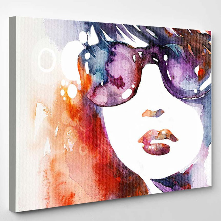 Watercolor Beauty Portrait 2 - Abstract Canvas Wall Decor