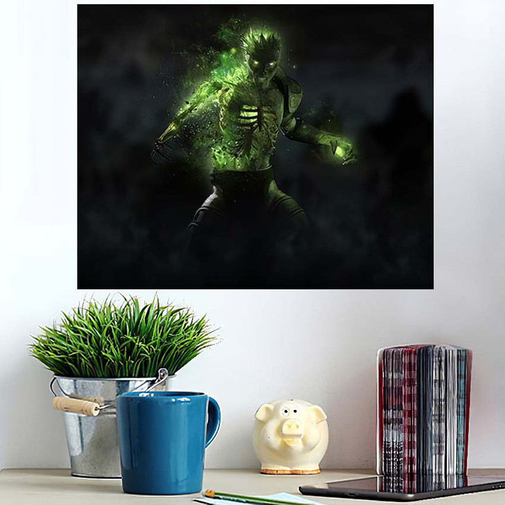 3D Render Zombie Necromancer Character - Fantasy Wall Art Poster