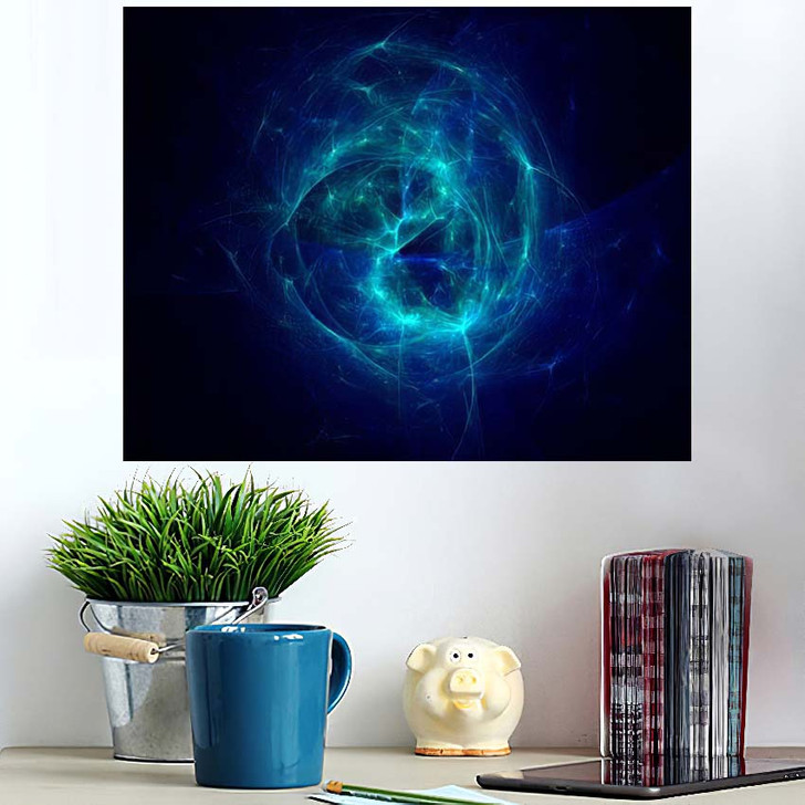 3D Rendering Abstract Fractal Light Background 1 1 - Fantasy Wall Art Poster