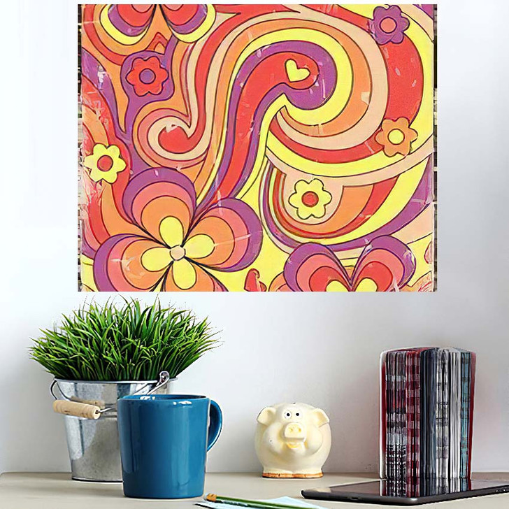 1960S 1970S Hippie Style Psychedelic Art - Psychedelic Wall Art Poster