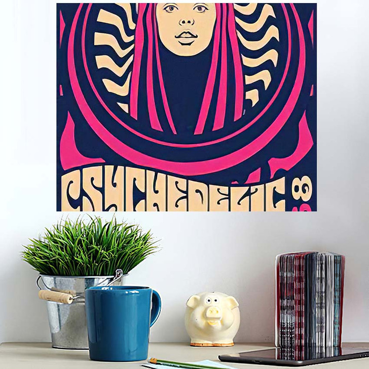 1960S 1970S Psychedelic Art Poster Hippie - Psychedelic Wall Art Poster
