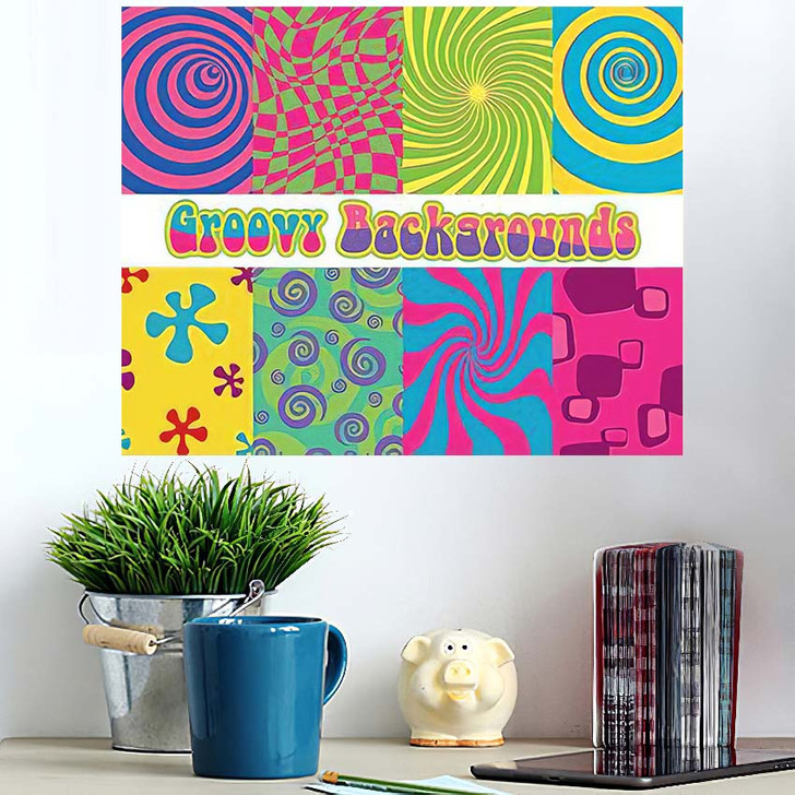 1960S Psychedelic Backgrounds Bright Colors Vintage - Psychedelic Wall Art Poster