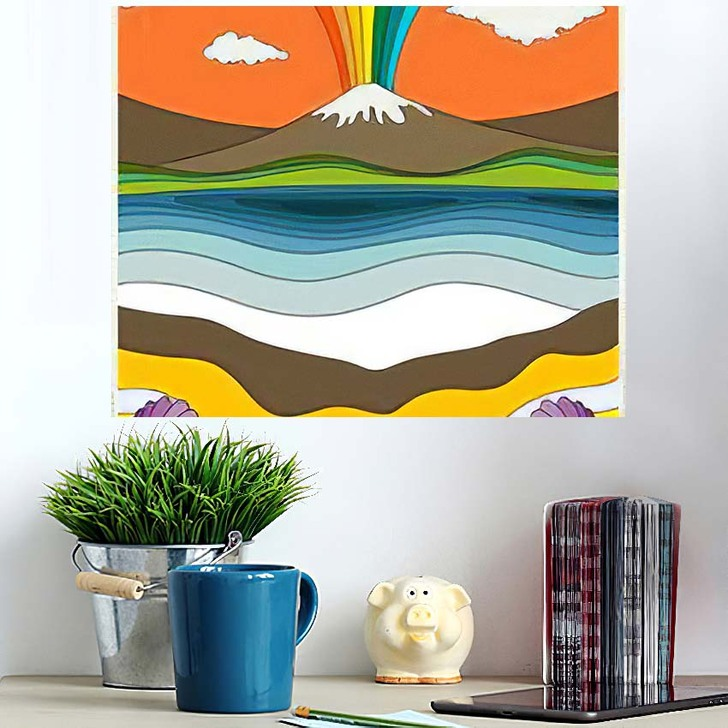 1960S Psychedelic Pattern Poster Cover Template - Psychedelic Wall Art Poster