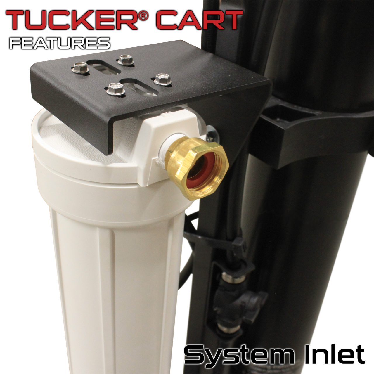 Tucker® PRO HIGH FLOW 3 Stage RO/DI Cart