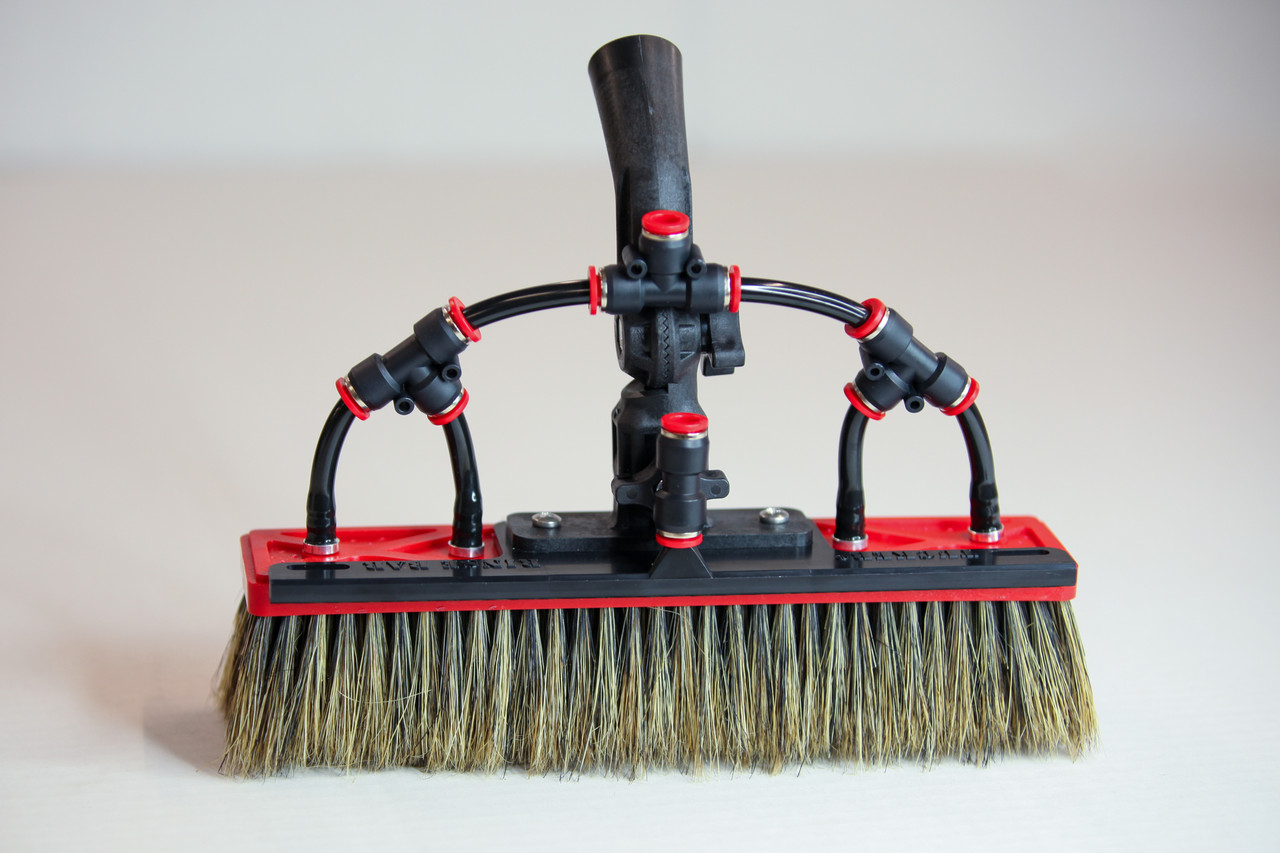 Tucker alpha boar bristle waterfed brush with 4 pencil jets and over the top rinse bar
