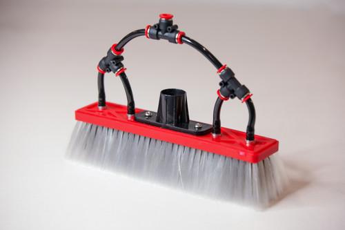Water Fed Brush │ Dual Trim - Boar and Nylon Bristle Hybrid - 4 Pencil Jets