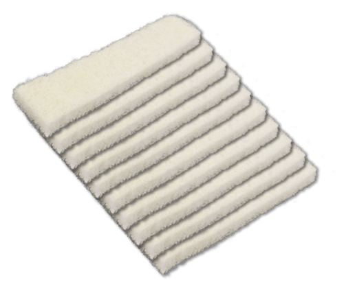 10 pack of replacement scrubbing pads for the tucker brand alpha scrubber water fed brush