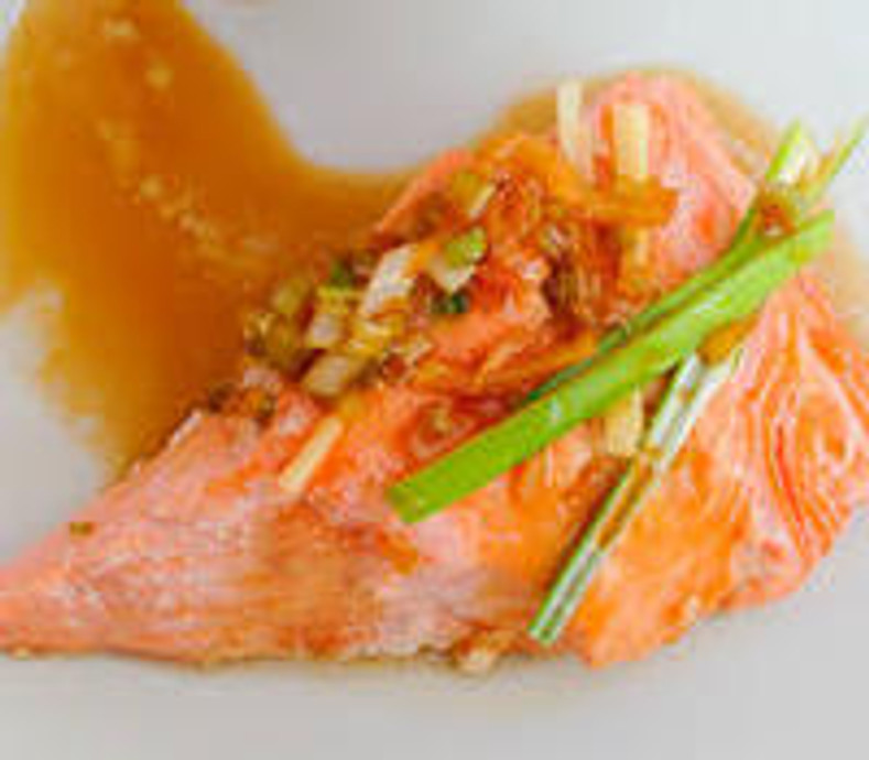 Healthy  Living - Poached Salmony Goodness