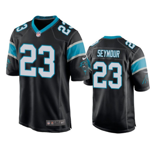 Carolina Panthers Kevon Seymour Game Black Mens Jersey Model a17263