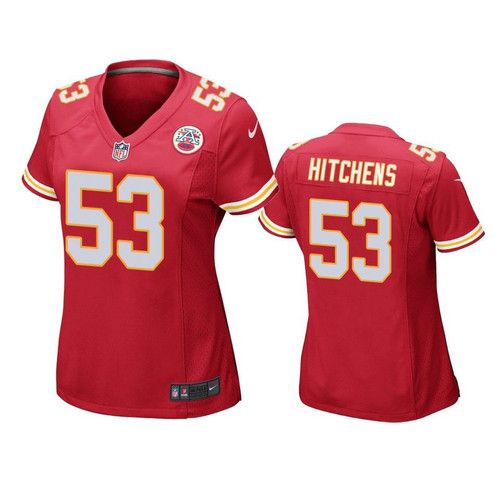 Kansas City Chiefs Ravens Anthony Hitchens Game Red Womens Jersey Model a21131
