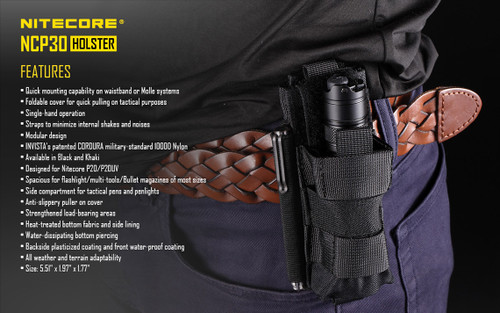Nitecore NCP30 Black Tactical Holster