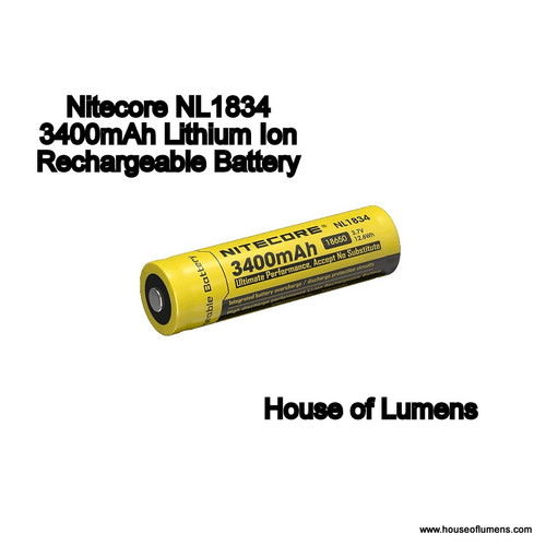 Nitecore NL1834 Lithium Ion Battery