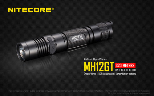 MH12GT 1000 lumen rechargeable tactical flashlight