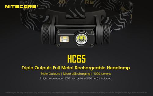 Nitecore HC65 LED Rechargeable Headlamp 001