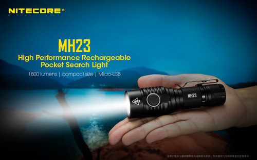 Nitecore MH23 1800 Lumen Handheld Spotlight - House of Lumens