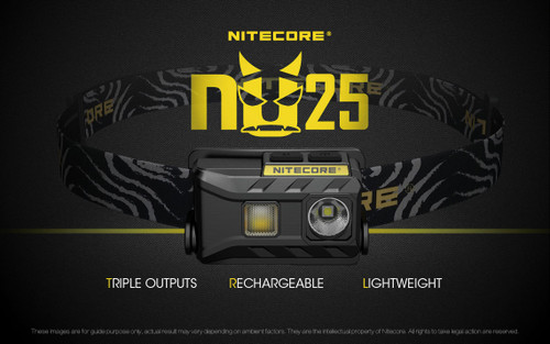NITECORE NU25 USB RECHARGEABLE HEADLAMP BLACK