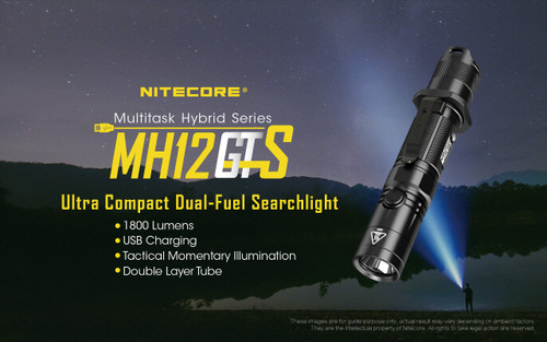 Nitecore MH12GTS 1800 Lumen Flashlight