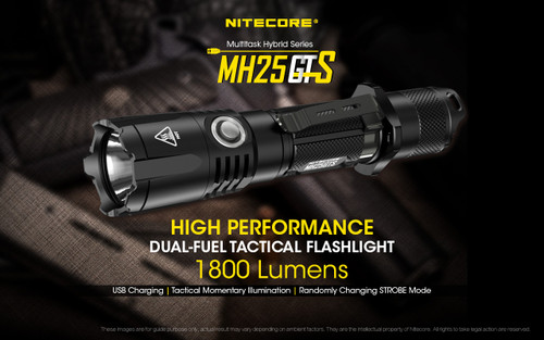 Nitecore MH25GTS 1800 Lumen USB Rechargeable LED Flashlight